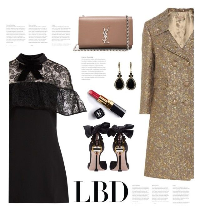 """""""Little Black Dress"""" by bliznec ❤ liked on Polyvore featuring self-portrait, Michael Kors, Miu Miu, Yves Saint Laurent, Chanel, Givenchy, LBD, polyvoreeditorial and polyvorecontest"""