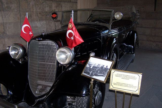 A 1934 Lincoln Model K used as Mustafa Kemal Atatürk's ceremonial car. The car is currently located at the Anıtkabir in the Anıttepe area of Ankara, Turkey