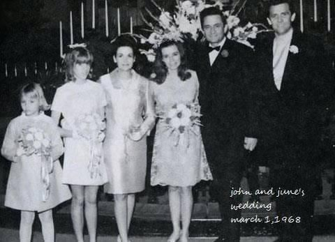 June Carter Marries Johnny Cash In Franklin Ky On March 1 1968