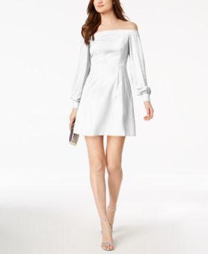 JILL JILL STUART OFF-THE-SHOULDER A-LINE DRESS. #jilljillstuart #cloth #