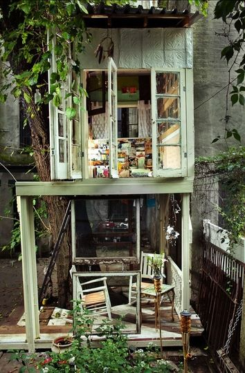 This is in Bed Sty, so why not build something in our Clinton Hill backyard?  Use every square foot in NYC!