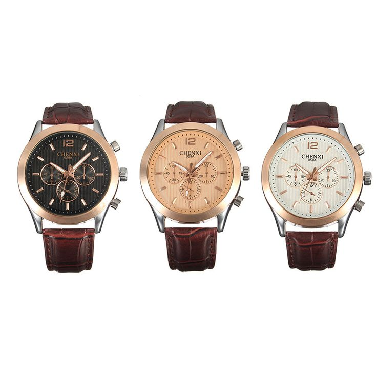CHENXI Casual Watch Leather Watch for Men