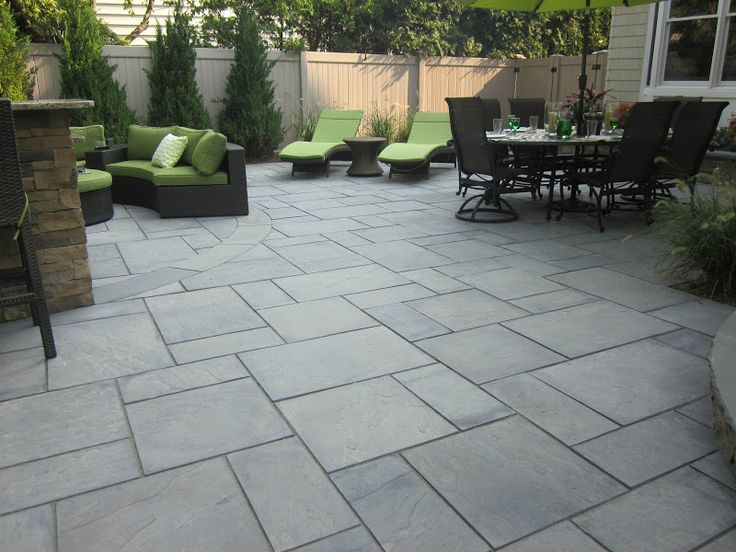 best 20+ bluestone patio ideas on pinterest | slate patio, outdoor ... - Concrete Slab Patio Ideas