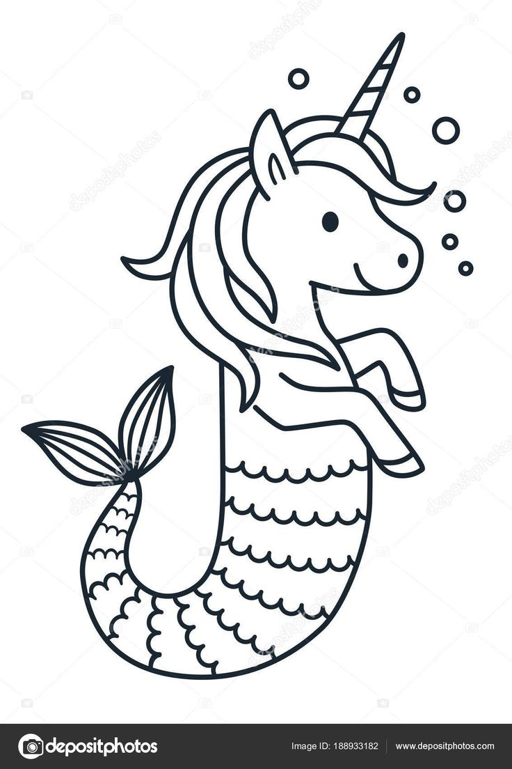 24+ Printable unicorn mermaid coloring pages ideas in 2021