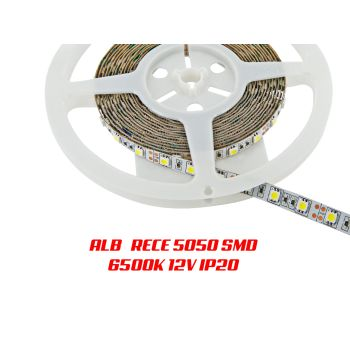 Banda LED 5050 Alb RECE IP20 rola de 5 metri si foarte luminoasa. Calitate extra !
