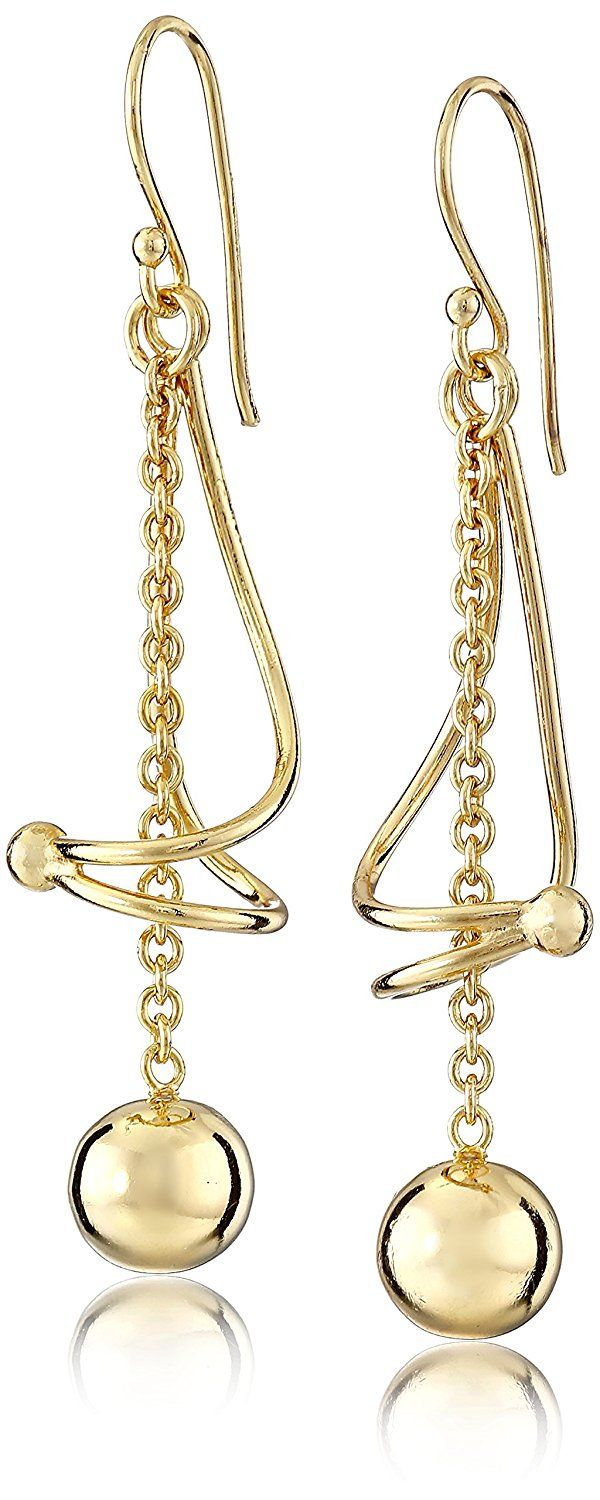 Sterling Silver Dangling Twist Ball Drop Earrings -- Read more  at the image link.