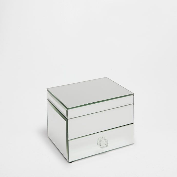 Mirrored jewellery box with a drawer and lid - New Arrivals - Decoration | Zara Home Suomi / Finland