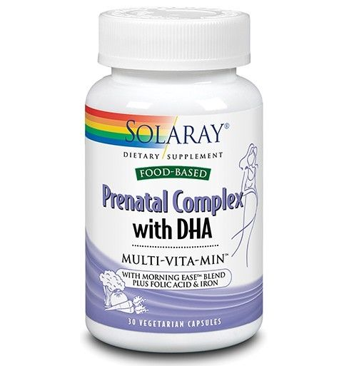 Prenatal Complex with DHA Multi-Vita-Min™ - 30 cps - ajută la completarea necesarului de nutrienți al femeii în perioada de preconcepție, sarcină și alăptare cu rol în dezvoltarea normală a fătului/bebelușului.