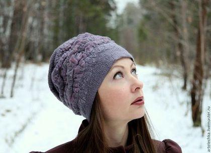 """Шляпы ручной работы. """"lilac ash"""" шапка, шляпа, головной убор валяный. Елена Шальнева (Elena Shalneva). Ярмарка Мастеров."""