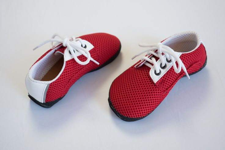 Dětská obuv : Ahinsa Shoes Dětská Červená