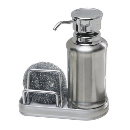 Interdesign York Ergo Soap And Scrubby Center Walmart Com Soap Dispenser Kitchen Soap Dispenser Soap Pump Dispenser