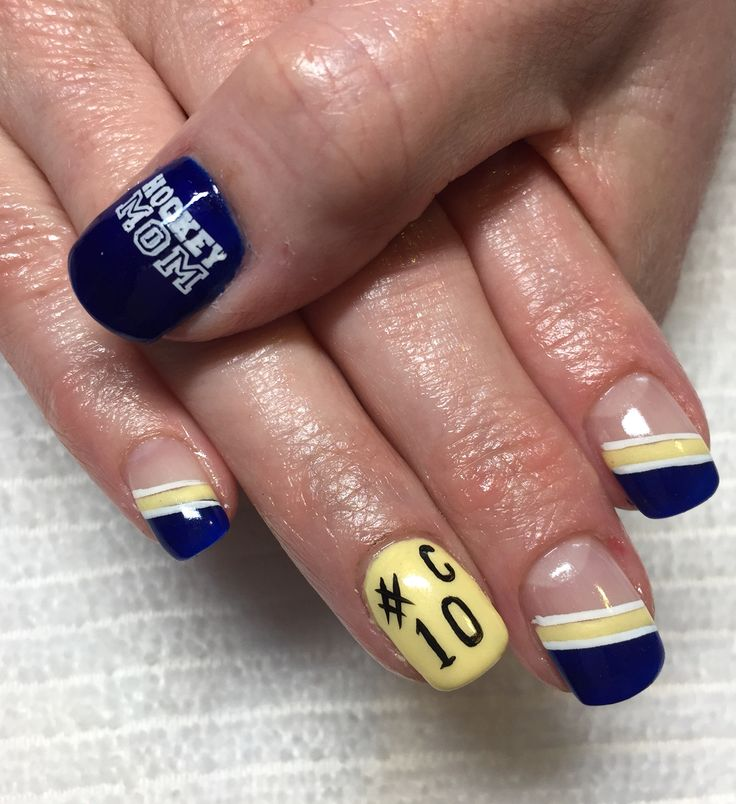 Hockey mom nail art