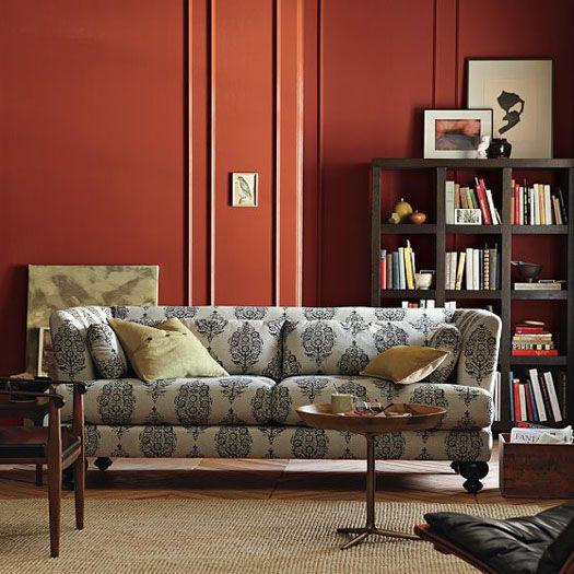 Large Print Paisley Sofa
