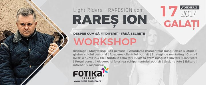 Greatful to be invited by Fotika PHOTOLABS & PHOTOBOOKS as a speaker and than to do a workshop in Galati 1617 november. Nice cover by Andrei Mantarosie See you there Light Riders. Al the details here: http://ift.tt/2xVtw23