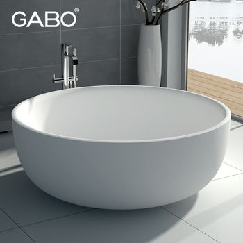 Cheap freestanding round double bathtub made in China