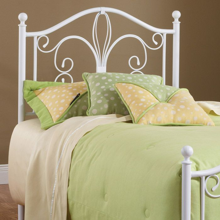 ? ? Ruby Textured White Metal Headboard with Frame ? ? - Discovered at www.dcgstores.com...