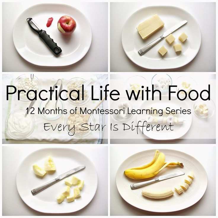 Every Star Is Different: Practical Life with Food - ideas for getting kids involved in the kitchen!