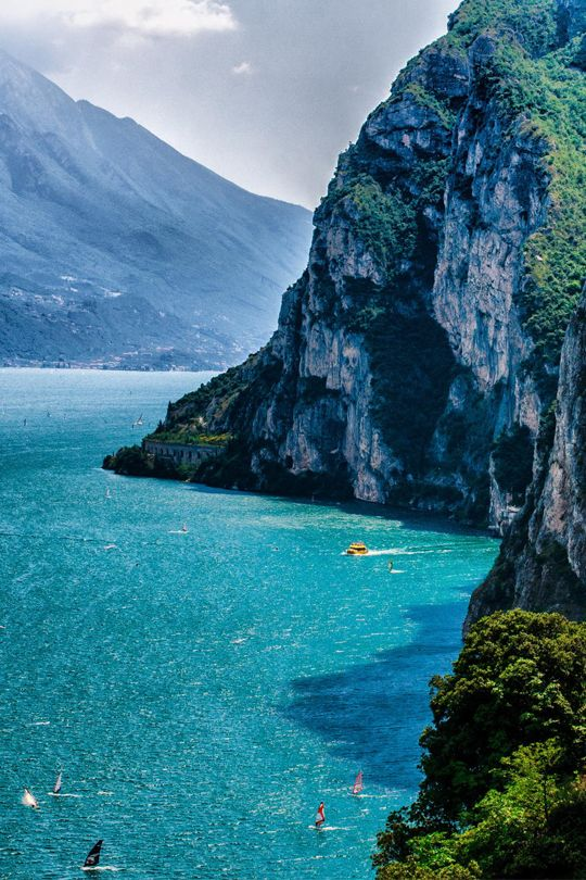 "italian-luxury: "" Walking along Lake Garda, Italy """
