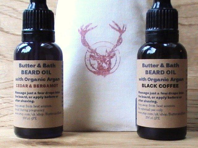 Stag Beard Set, Antlers Beard Oil Kit, Men's Grooming Gift, Vegan Beard Oil Set, Stag Party Gift For Him, Pre Shave Oils, Men's Gift Idea by ButterandBath on Etsy https://www.etsy.com/uk/listing/249291209/stag-beard-set-antlers-beard-oil-kit
