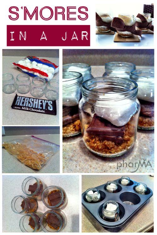 Smores in baby food jars - genius!