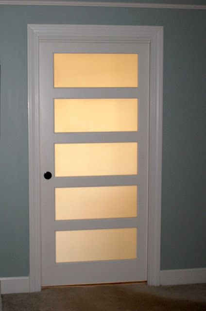 frosted pocket door. Would be a nice upgrade from the plain one between the library & kitchen.