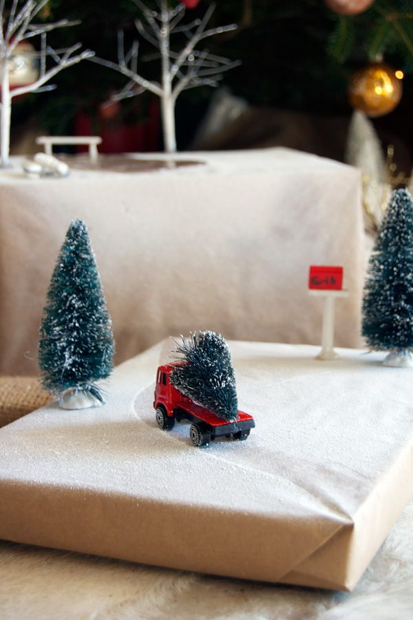 truck-driving-on-present  Diorama Present Toppers  http://www.theartofdoingstuff.com/christmas-present-dioramas-up-close/