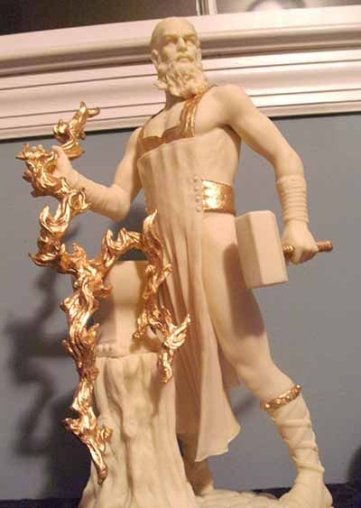 Hephaestus - the Greek god of technology, blacksmiths, craftsmen, artisans, sculptors, metals, metallurgy, fire and volcanoes- Leos dad!