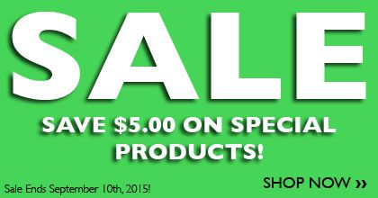 It's a crazy $5.00 Sale!  Ends Sept. 10th, 2015!  While supplies last!