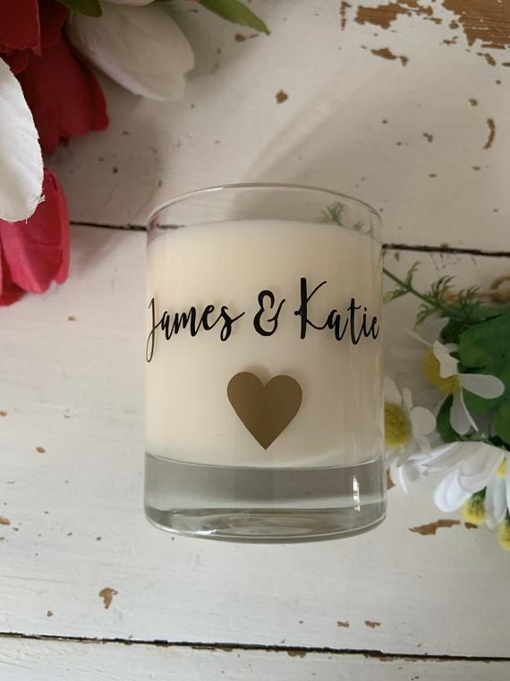 Engagement Wedding Candle Gift Personalised Name And Date Scented Hand Poured Personalized Candles Candle Wedding Gift Personalized Scented Candles