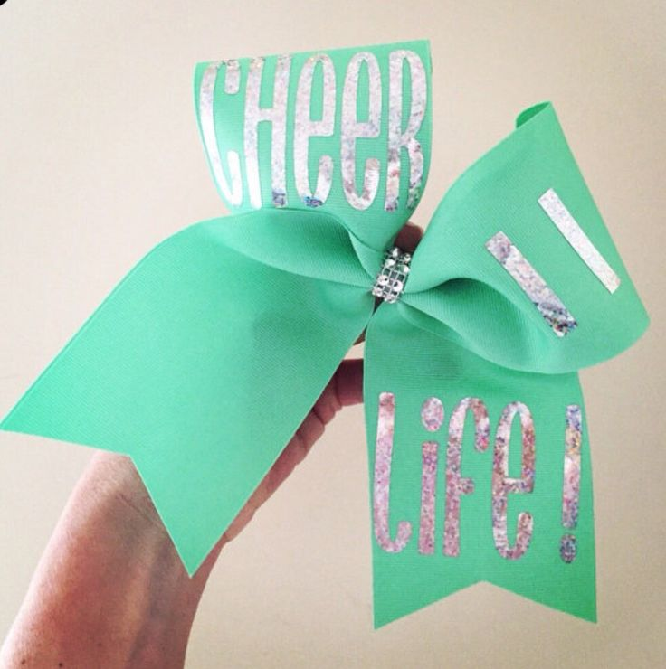 CHEER = LIFE MINT HOLOGRAPHIC CHEER BOW