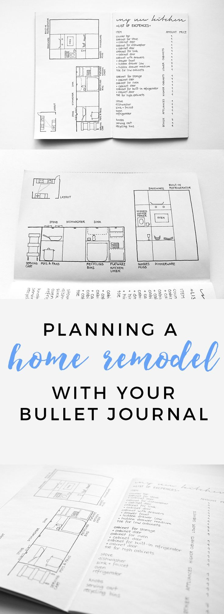 How you can use your bullet journal to plan a remodel!