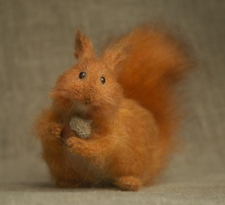 red squirrel by artist Natasha Fadeeva