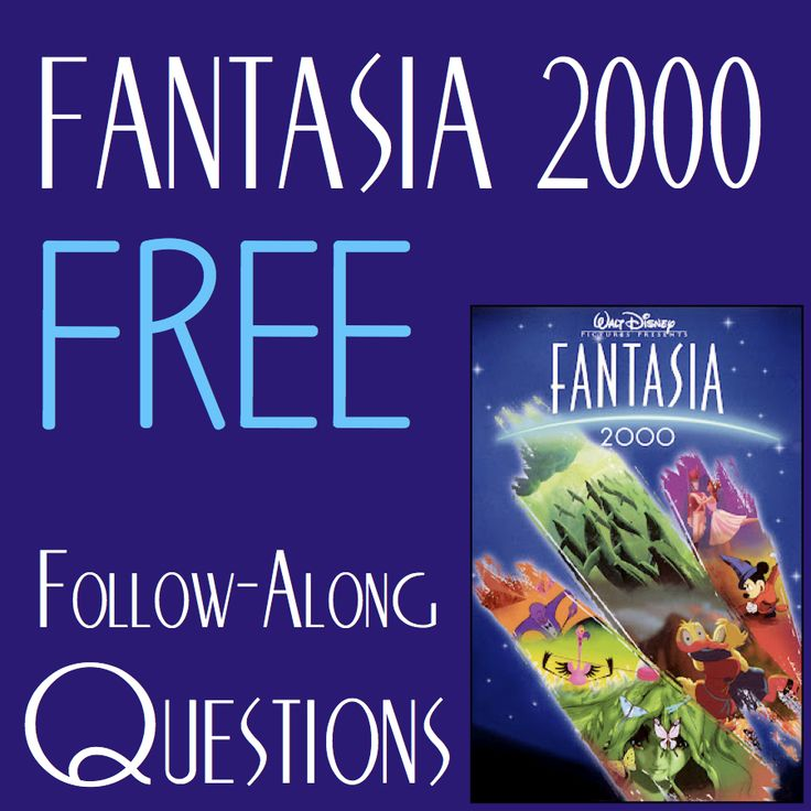 Free Fantasia 2000 Questions!  http://www.teacherspayteachers.com/Product/Walt-Disneys-Fantasia-2000-Follow-Along-Questions-876365