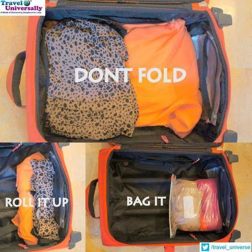 Lots of packing tips from clothes to electronics!