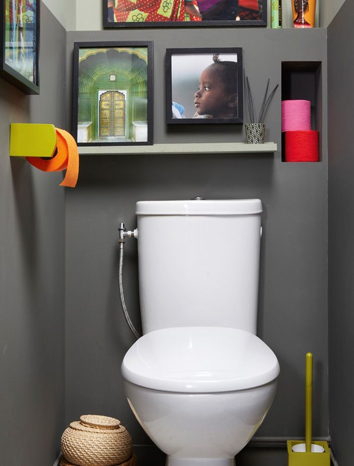 149 best Toilette \ WC stylés images on Pinterest Bathroom, Half - Comment Decorer Ses Toilettes