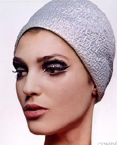 Benedetta Barzini, 1960's.  Photographed by Bert Stern for Vogue US.  Love the black lace applied to her upper and lower lids!Hats, Fashion Vintage, Makeup, Benedetta Barzini, Vintage Vogue, Bert Stern, Eye, Vintage Style, Vintage Couture