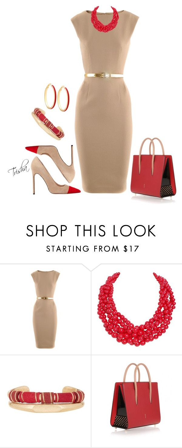 """""""Fall"""" by pkoff ❤ liked on Polyvore featuring Michael Kors, Manolo Blahnik, Humble Chic, Melrose & Market, Christian Louboutin and GUESS"""