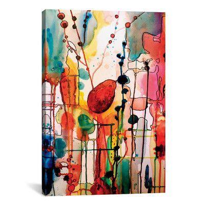 "Mercury Row Le Troubadour Painting Print on Wrapped Canvas Size: 18"" H x 12"" W x 0.75"" D"