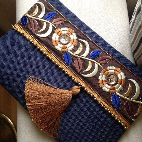 Bohemio de embrague bolso étnico bolso para por BOHOCHICBYDAMLA