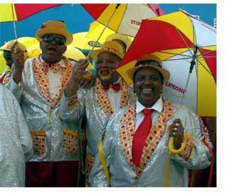 Cape Minstrel Carnival (aka the Kaapse Klopse) in January, Cape Town, South Africa