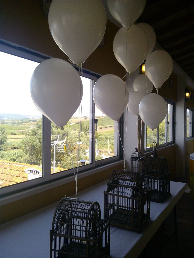 Christening party balloons