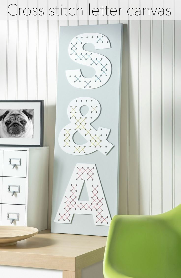 Cross Stitch Letters On Canvas