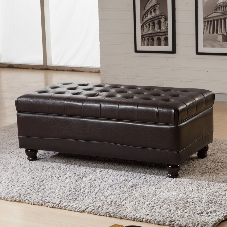 foot rests for living room%0A The button tufted storage bench ottoman offers a tufted  pillowy place to  rest your feet or sit  With a solid wood frame  this storage ottoman will  be a