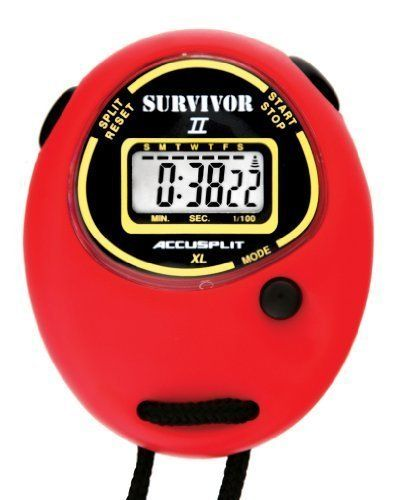 ACCUSPLIT Survivor II - S2XL Stopwatch, Clock by ACCUSPLIT. ACCUSPLIT Survivor II S2XL Stopwatch, Clock (Red). Various.