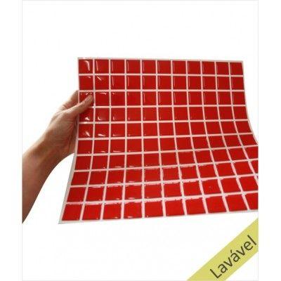 Placa de Pastilha Adesiva Resinada Vermelha