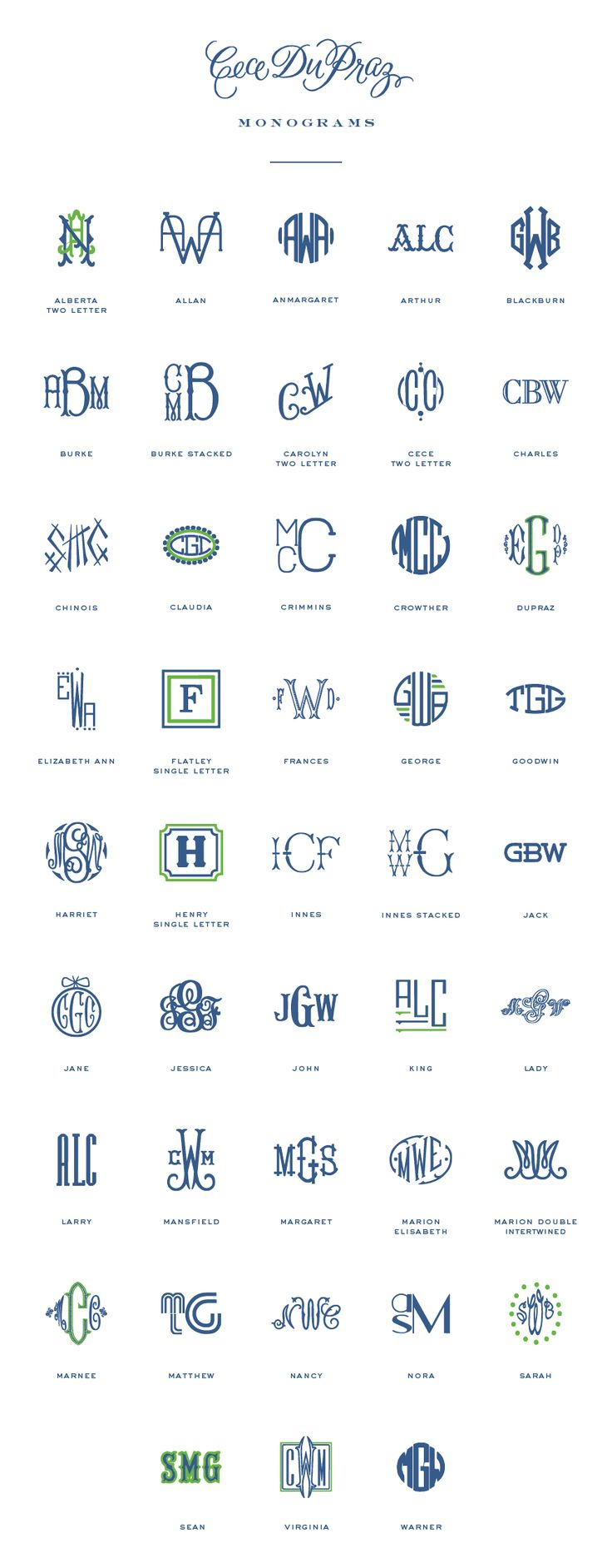 monograms | Cece DuPraz                                                                                                                                                      More
