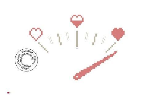 Grille gratuite point de croix - Compteur d`amour - www.caielle-cadiera.com
