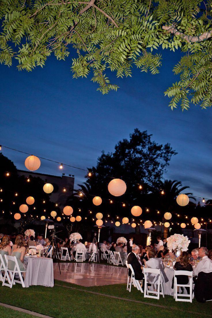 Dekoration Hochzeit Gorgeous Nighttime Wedding Reception At The