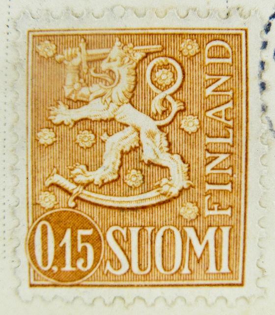 stamp Finland Finnland 0.15 M Suomi stamp timbre postage porto 0.15 armorial bearings hatchments francobollo selo Suomi mapka postzegel Briefmarken Finnland Finlandia marka | Flickr - Photo Sharing!