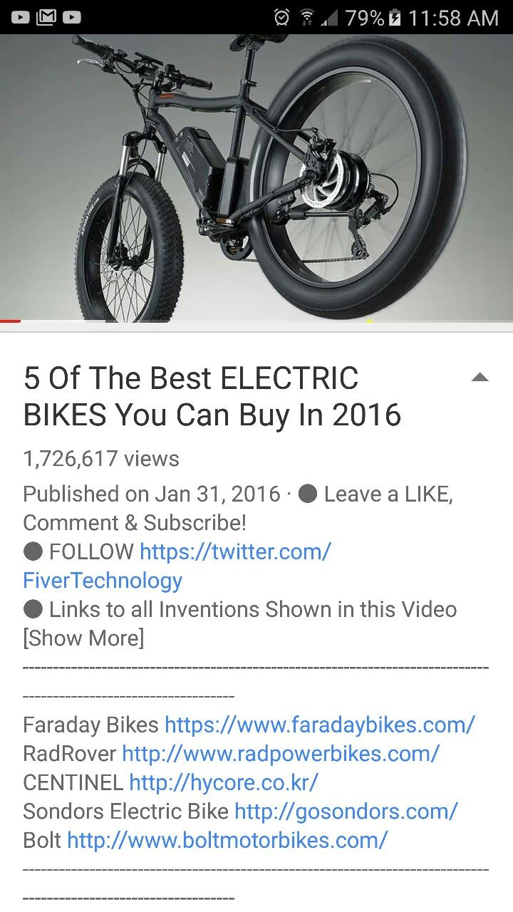 Electric bike adaption for wheel chair youtube - 5 Of The Best Electric Bikes You Can Buy In 2016 On Youtube
